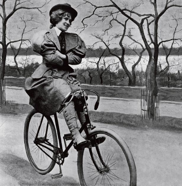 Фото к статье: Правила для женщин на             велосипедах в 1895 году
