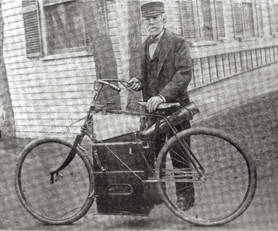 Фото к статье: Паровой велосипед Сильвестра Говарда             Роупера